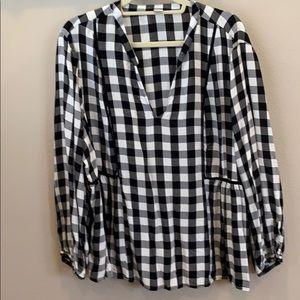 Old Navy gingham babydoll shirt. XXL
